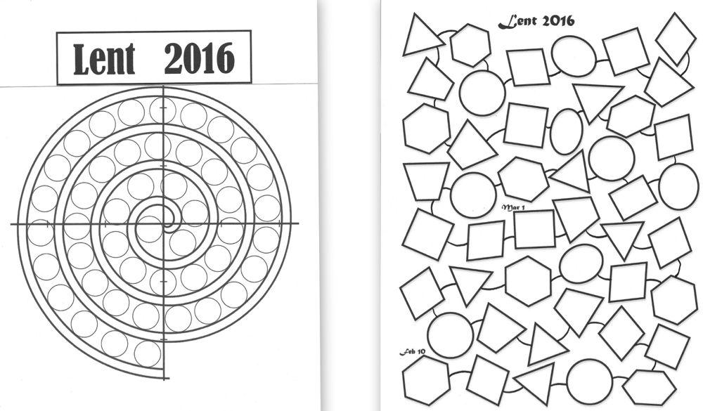 Hexagons  Lenten Calendar Templates