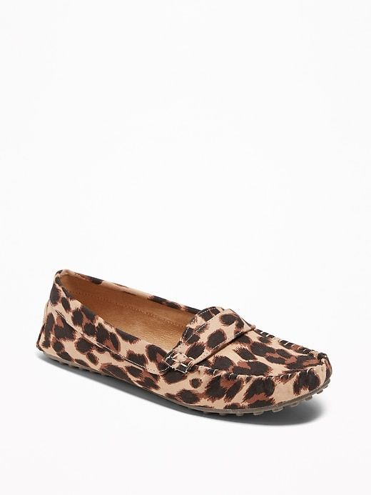 b3d73ab19ffe Sueded Leopard-Print Driving Moccasins for Women | Old Navy | Looks ...