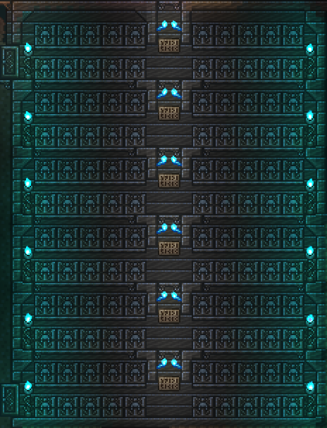 The Most Efficient Storage Using Quick Stack Terraria House