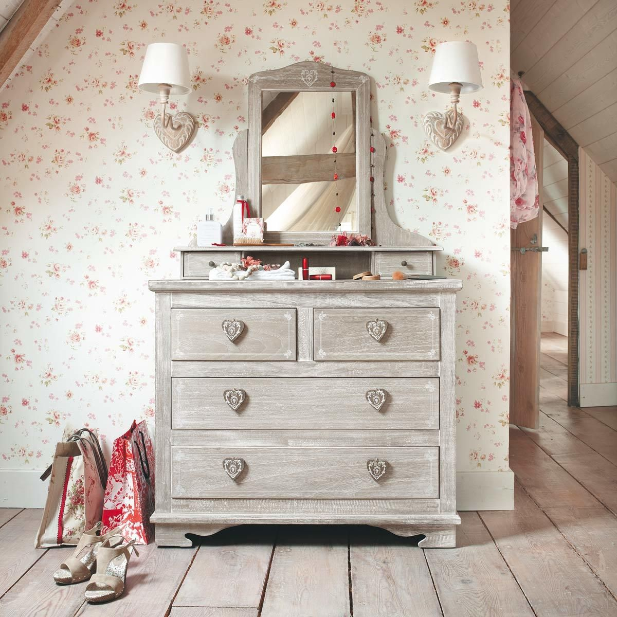 Coiffeuse 4 tiroirs en paulownia | Bedrooms ♥ | Deco ...