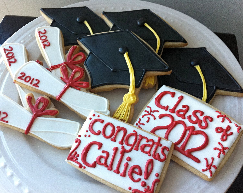 how to decorate graduation cap cookies
