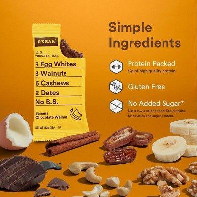 RXBAR Banana Walnut Nutrition Bar - 4ct #walnutsnutrition