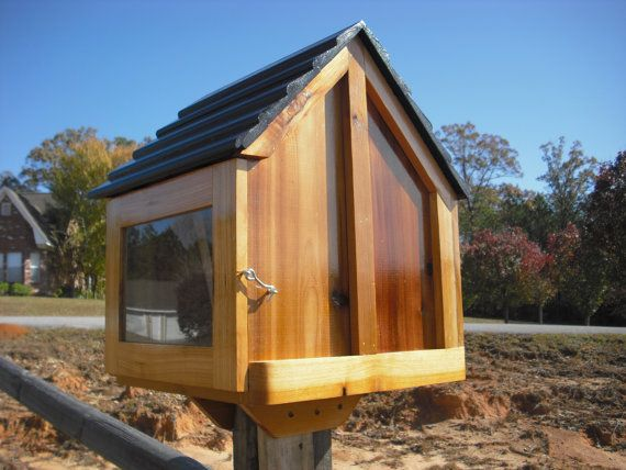 Little House On A Stick Neighborhood Book Box Library Etsy Roof Colors Roof Design Modern Roofing