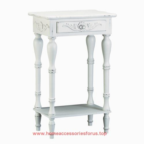 Set of 2 Carved Wood Shabby White Nightstands  BUY NOW     $108.00    Curvy legs and shell-design trim add distinction to this square side table. A generous drawer and a bottom shelf provide plen ..  http://www.homeaccessoriesforus.top/2017/03/06/set-of-2-carved-wood-shabby-white-nightstands/