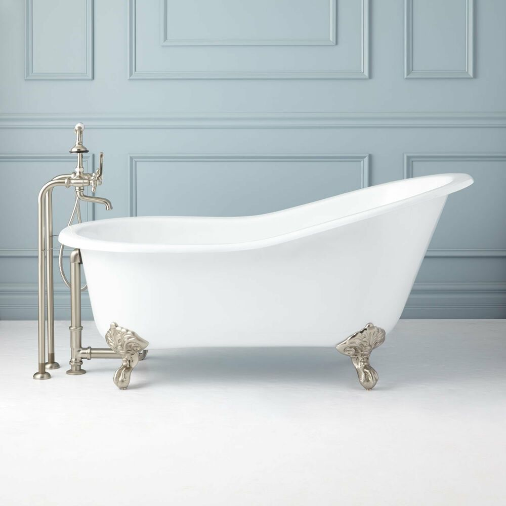 Signature Hardware 61 Callaway Cast Iron Slipper Clawfoot Tub
