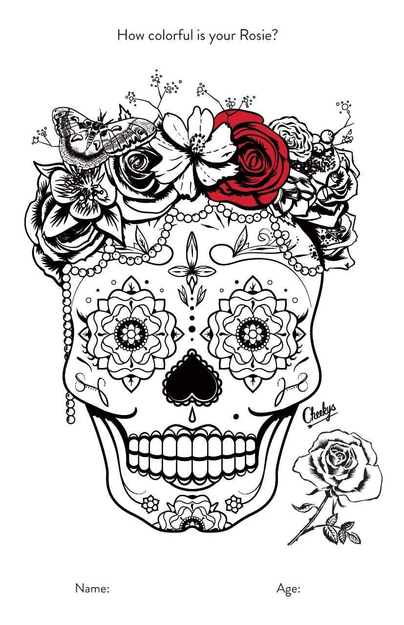 7-rosie.jpg   Dibujos Catrinas - Dia de los Muertos   Pinterest ...
