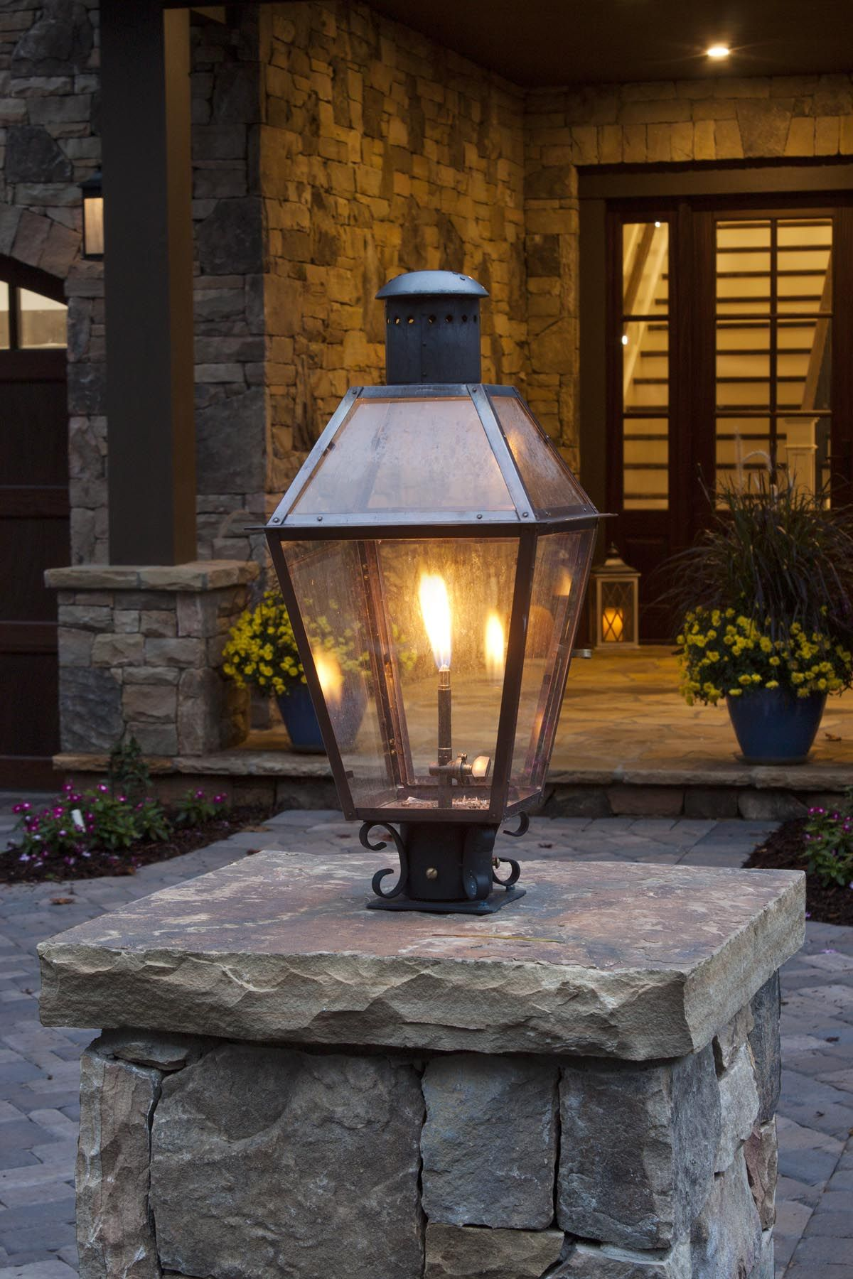 Bevolo Copper Gas Lantern Gas Lanterns Outdoor Lighting