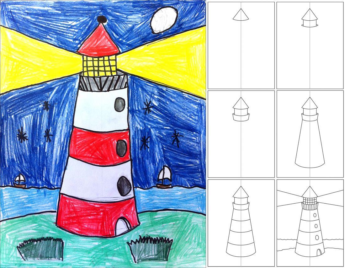 How To Draw A Lighthouse Lighthouse Art Art Classroom Art