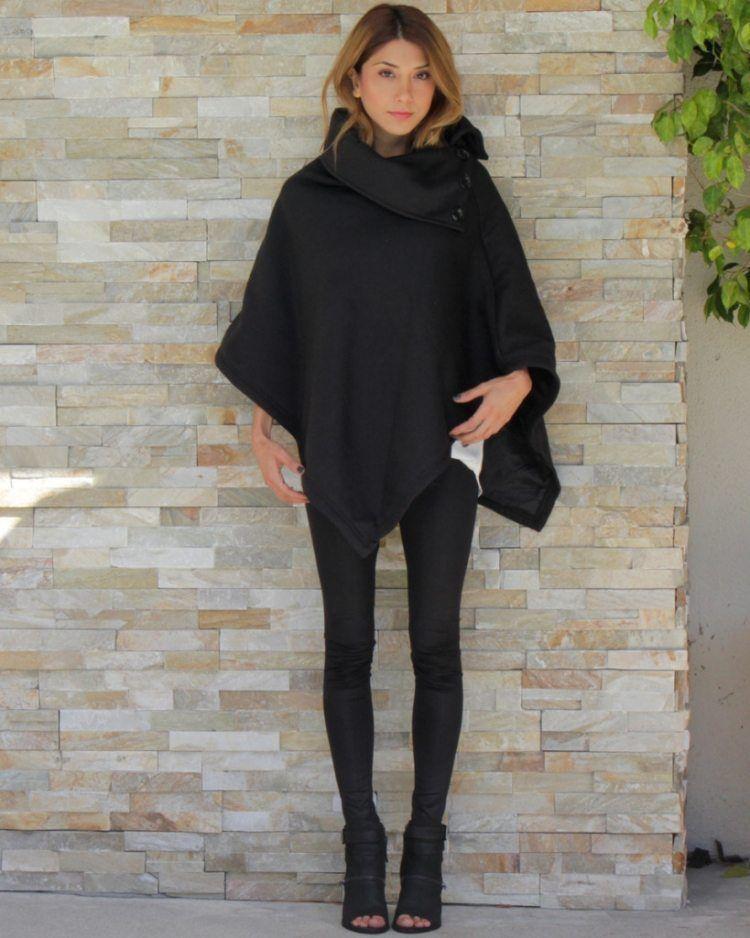 poncho femme original en 55 designs automne hiver 2015 o u t f i t pinterest mode. Black Bedroom Furniture Sets. Home Design Ideas
