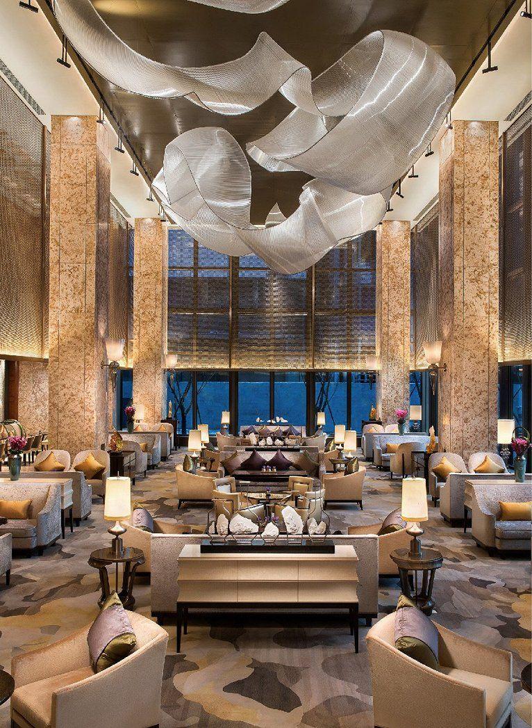 杭州城中香格里拉大酒店建e室内设计网设计案例 lobby pinterest
