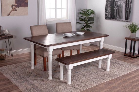 Farmhouse Table With Spindle Legs Wood Dining French