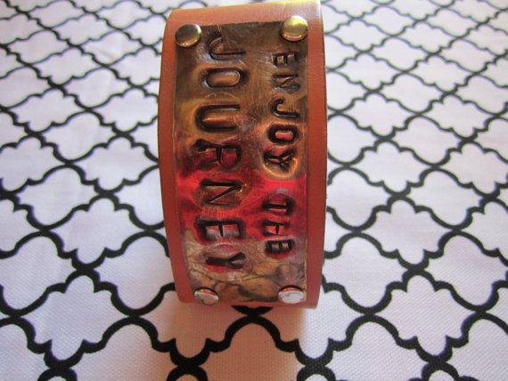 LEATHER CUFF BRACELET by SoulfulArtists on Etsy, $20.00