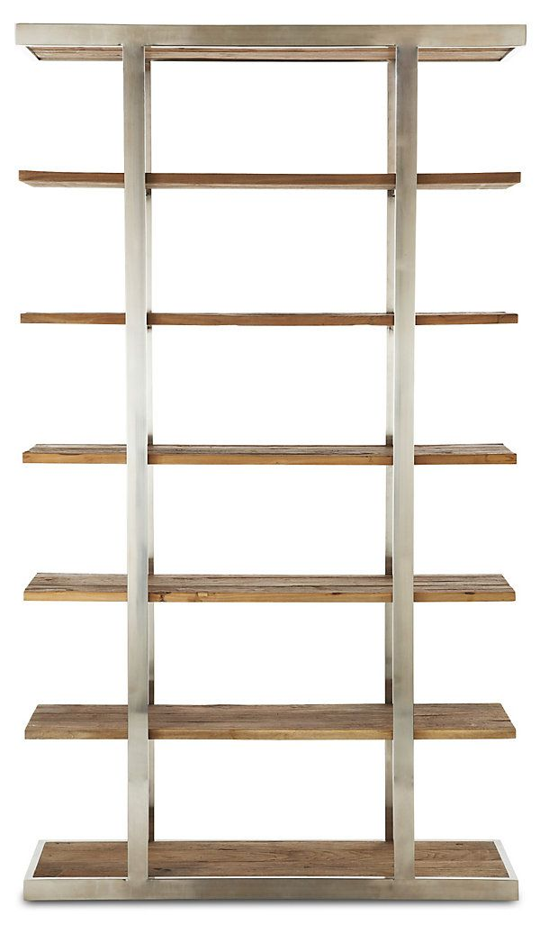 Taylor Elm Tall Bookcase, Natural/Silver | Small Apartment, Big Style | One Kings Lane