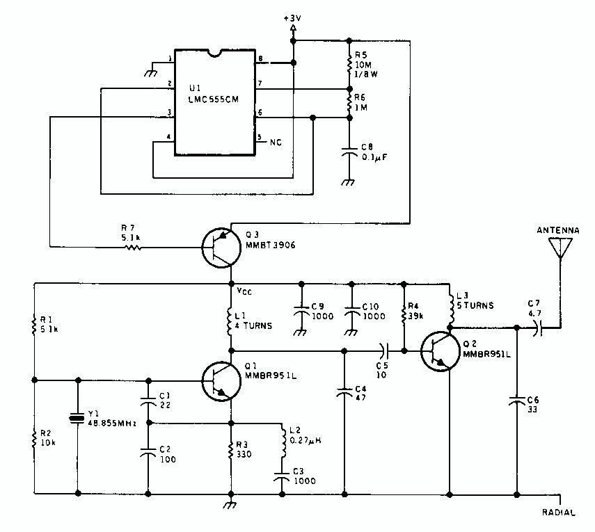 arduino rf transmitter circuit