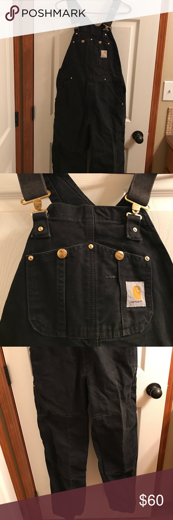carhartt overalls men s black work overalls in perfect on work coveralls id=45215