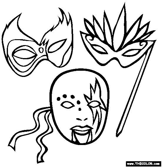 Free Printable Mardi Gras Coloring Pages | развивашки по шичиде и т ...