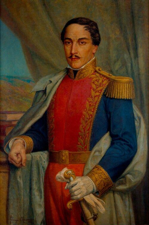 El General Francisco De Paula Santander Obra Del Pintor George