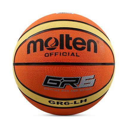 Original Molten Basketball Ball Gr6 High Quality Genuine Molten Rubber Material Official Size6 Free With Net Bag Need Basketball Ball Net Bag Rubber Material