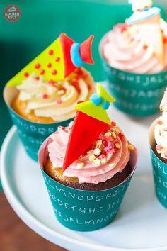 #Einschulung #Ideen #Cupcakes #Tischdeko #Schultüte #school #enrollment #ideas #deco #sweet #table