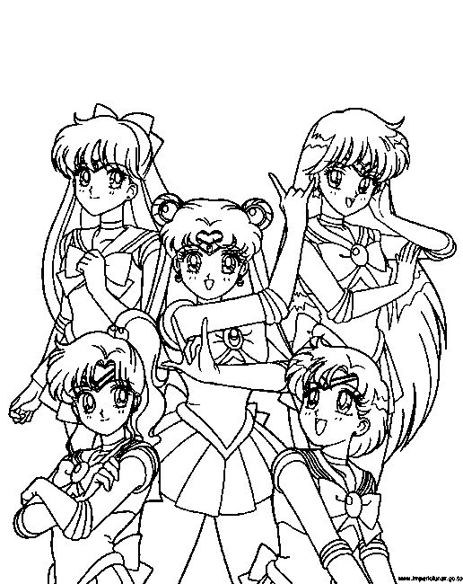 Sailor moon coloring pages sailor moon pinterest for Sailor moon group coloring pages