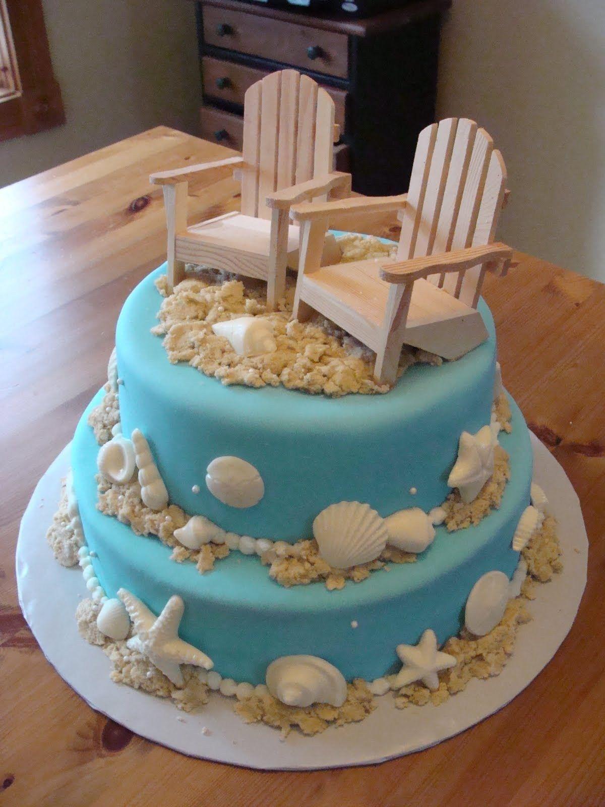 Beach Theme Birthday Cake Beach Wedding Cake Cup Cake Wedding