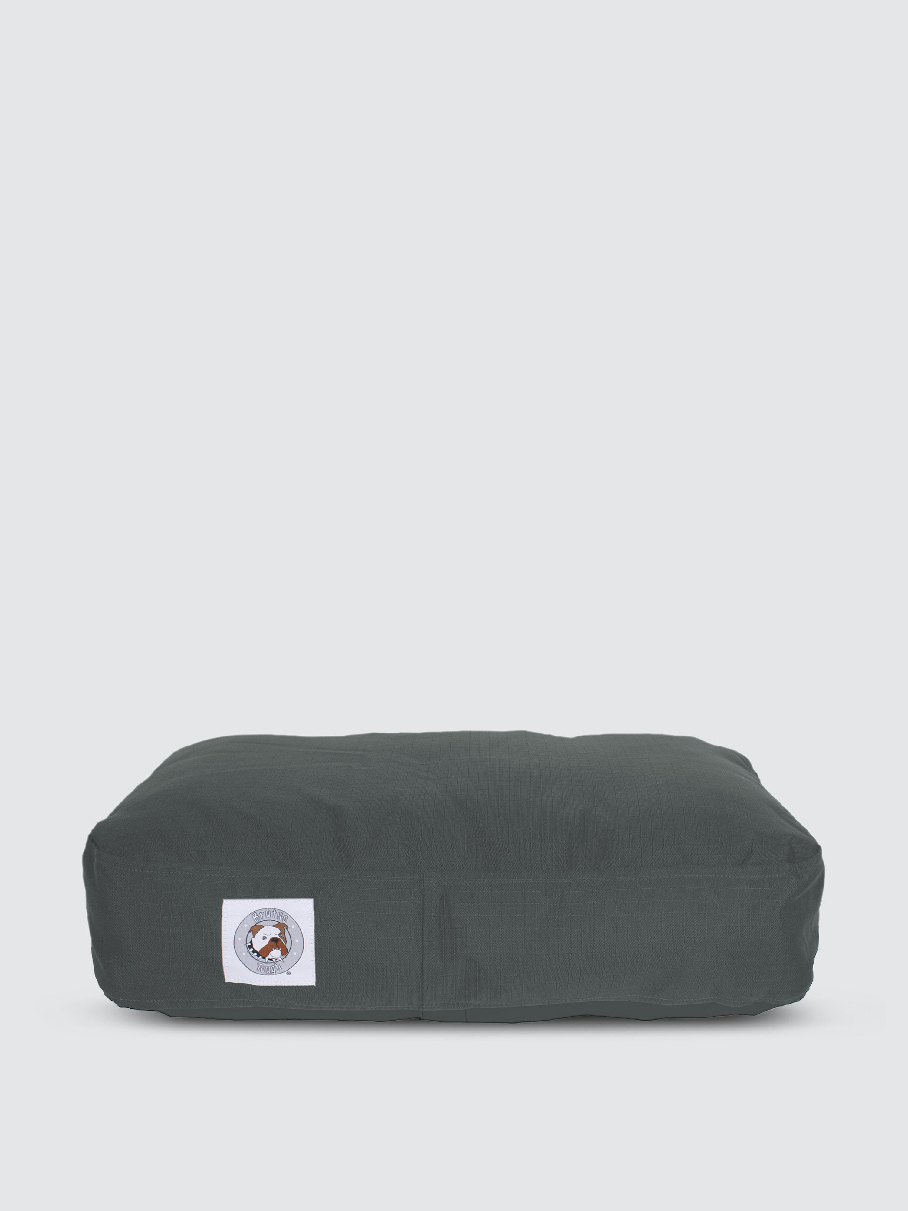 """A bed perfect for new puppies, or dogs that are """"ruff"""" on their beds! Heavy Duty fabric makes this bed BRUTUS TOUGH® for pets who love to scratch and chew. It features hidden zippers and seamless corners – both popular chew points. It's lightweight and easily portable for dogs on the go. Plus it's waterproof, making it great for outdoors and camping trips."""