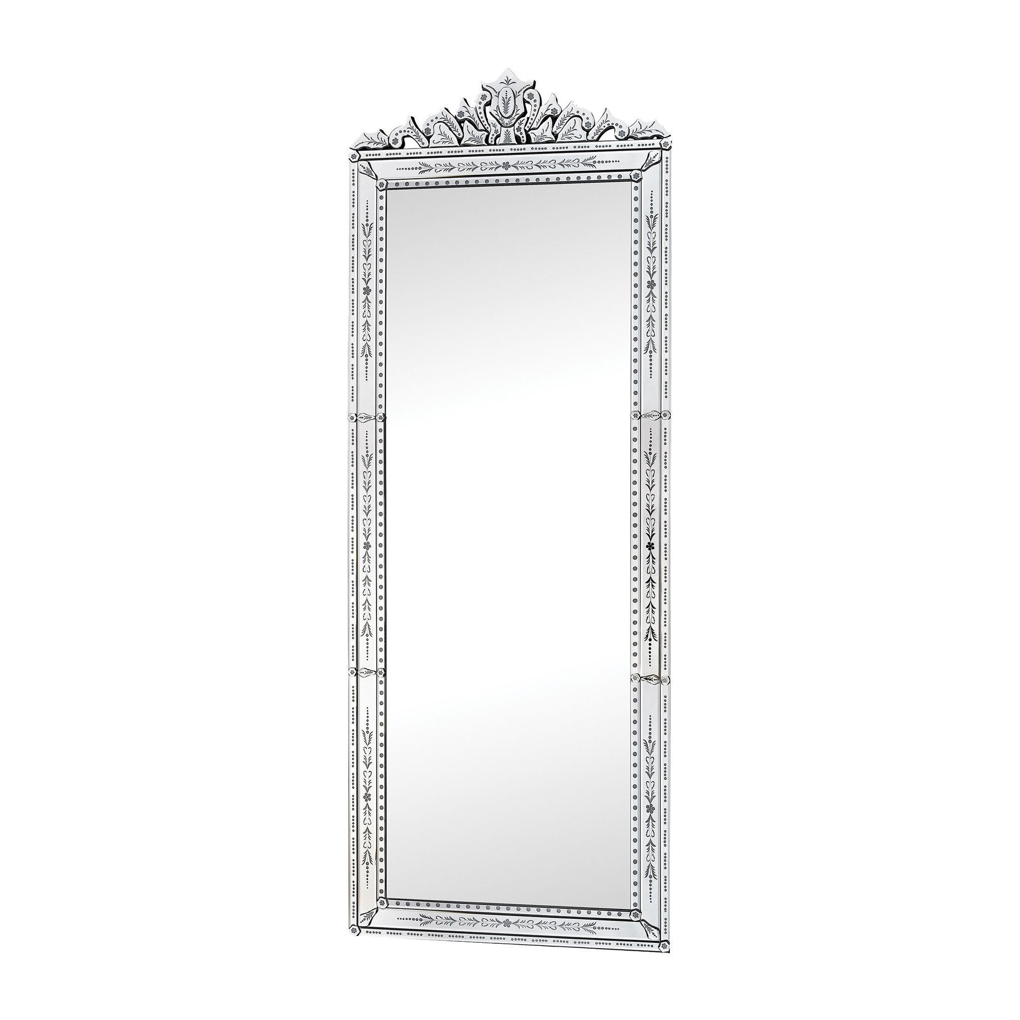 Lazy Susan Camille Wall Mirror With Venetian Glass Frame 1114-195 ...