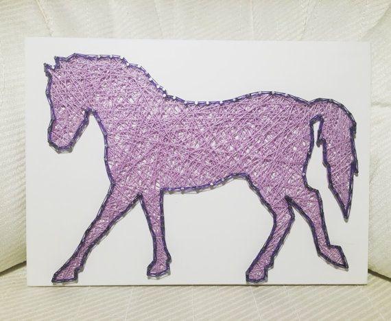 CUSTOM Horse String Art by KiwiStrings on Etsy