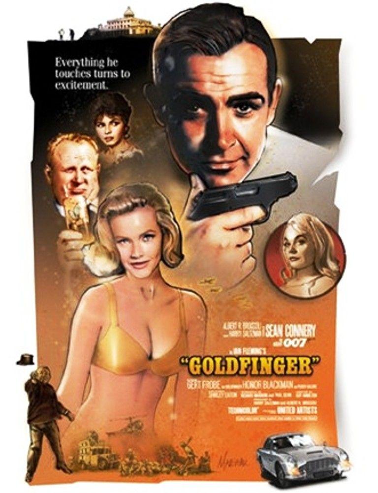 James Bond 1964 Movie Poster Goldfinger