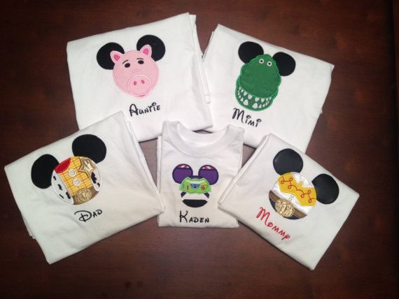 adf9156c6 Matching family shirts for Disney. Set of 5 Toy Story Themed Mouse Head  Shirts by twigsandstitches, $112.50