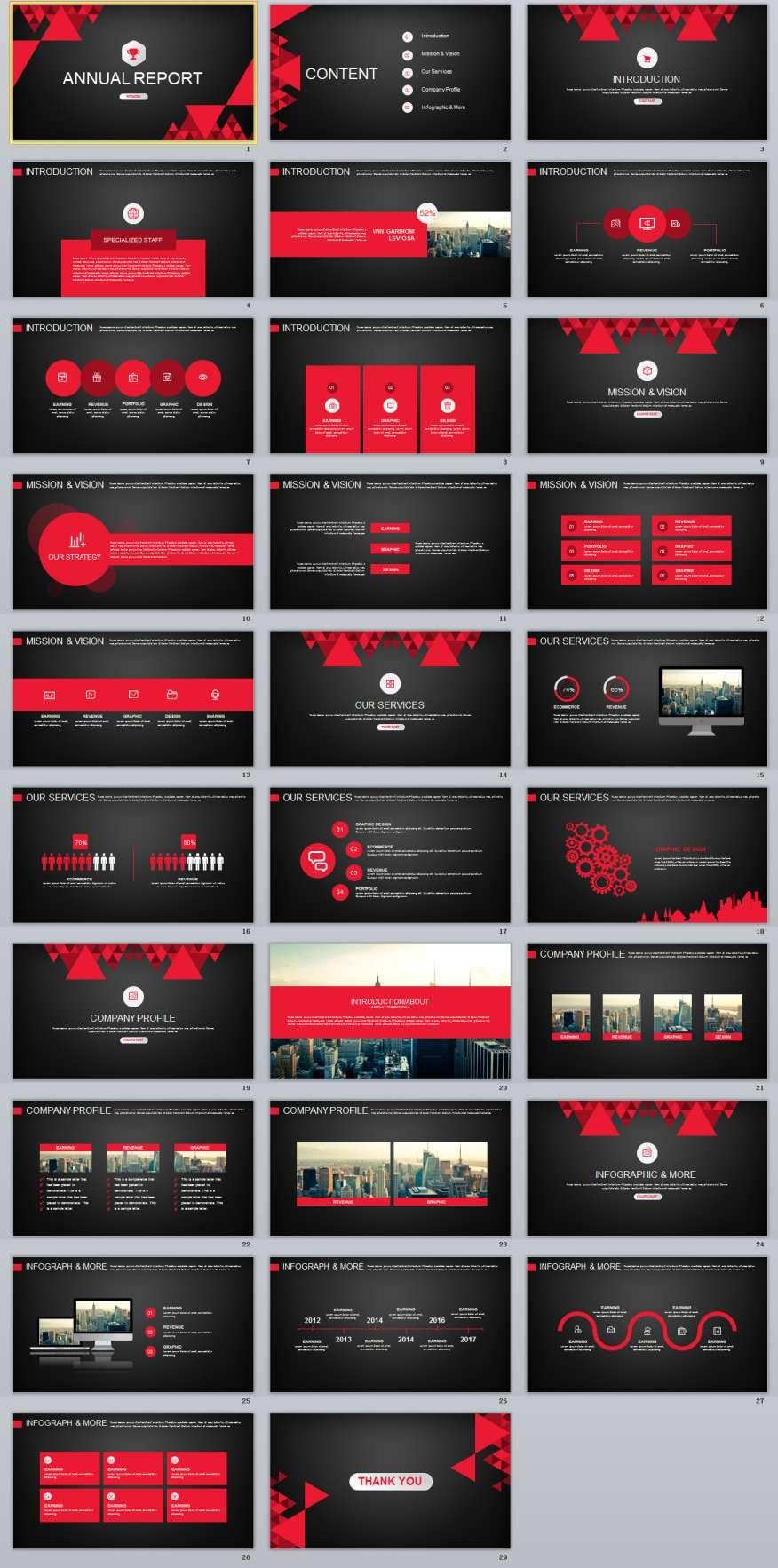 29 red black annual report powerpoint templates annual reports 29 red black annual report powerpoint templates toneelgroepblik Choice Image