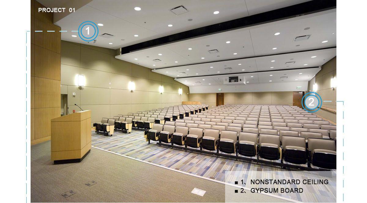 non standard ceiling,Aluminum Non standard ceiling,Auditorium non standard ceiling