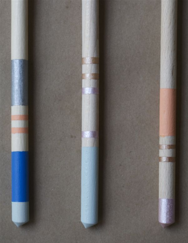 Colorful Spoons: How-To: Color Block Wooden Spoons