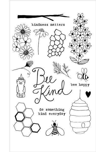 Flora and Fauna BEE KIND Clear Stamp Set 20164