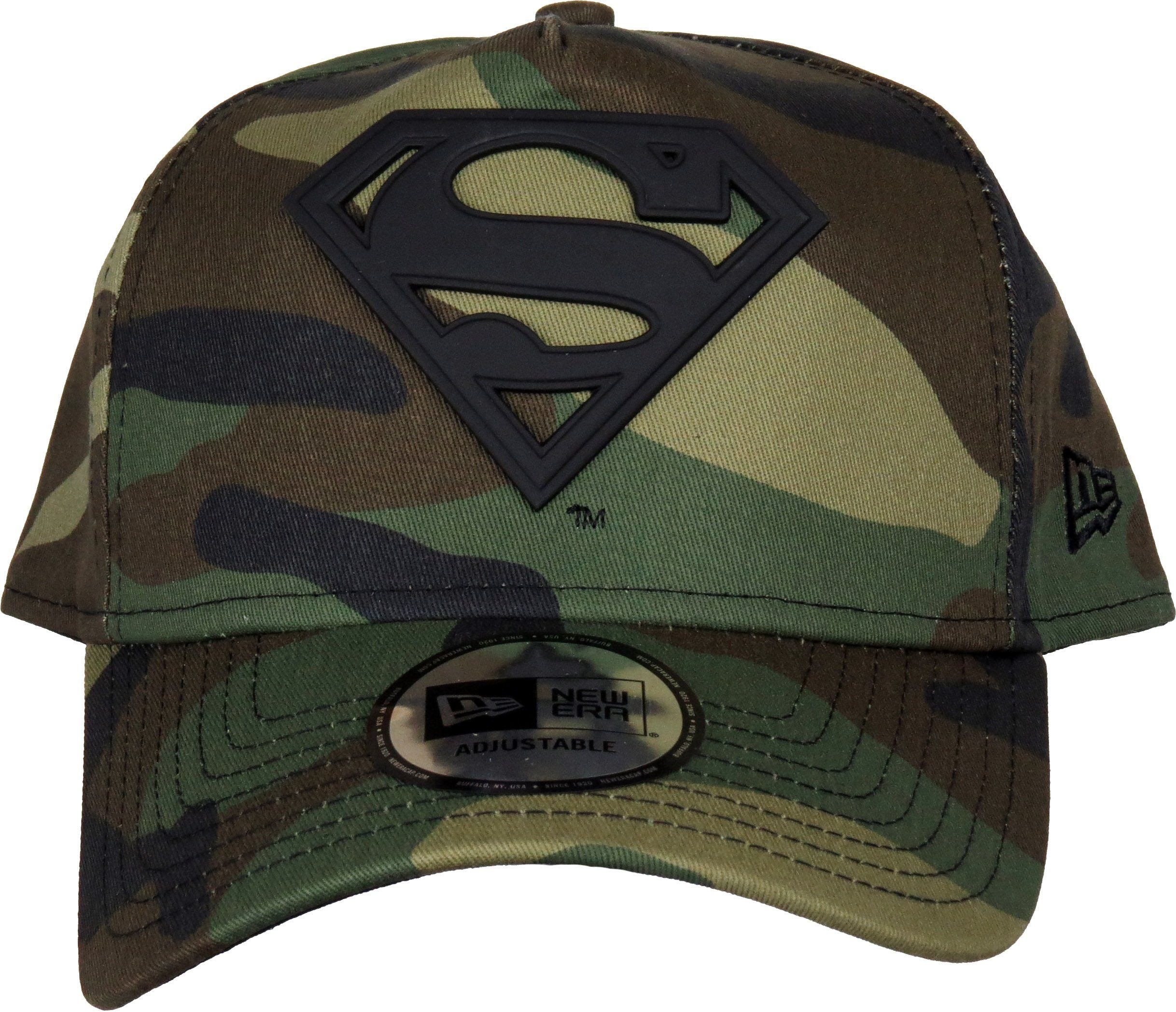 2ded67de319 DC Comics New Era Camo Metal Hero A-Frame Trucker Cap. Woodland Camo ...