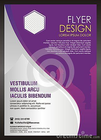 islamic flyer brochure template design editable suitable for