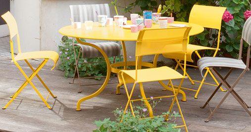 Table ronde 137 cm Romane, table de jardin, mobilier de ...