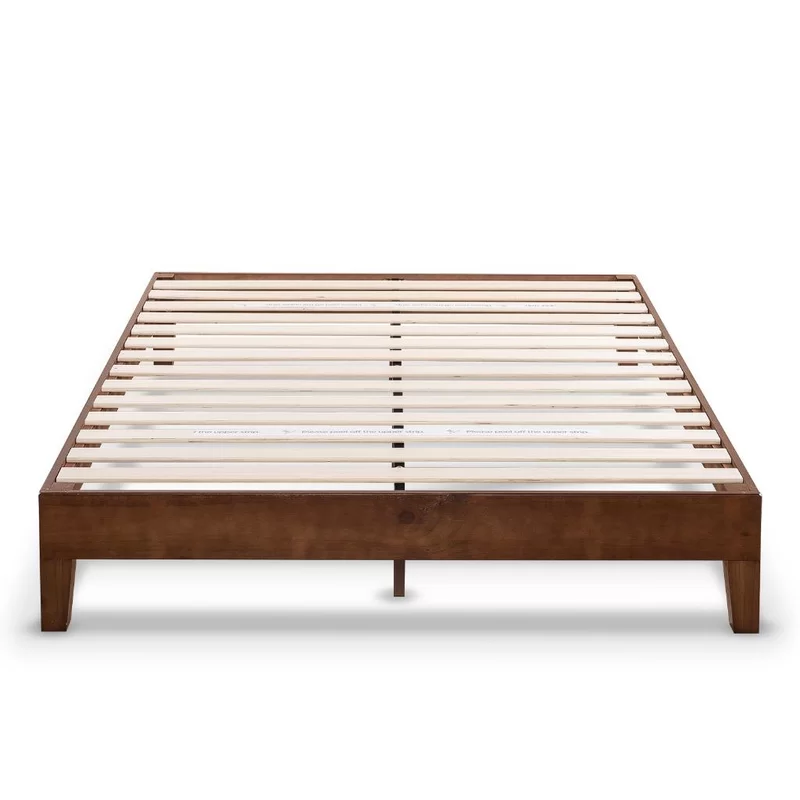 Harney Solid Wood Upholstered Low Profile Platform Bed Frame Platform Bed Frame Wood Platform Bed Wood Platform Bed Frame