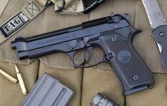 Beretta M9. The official sidearm of the U.S. armed services. My duty sidearm, pistol.