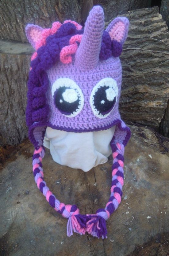 Crocheted My Little Pony Sparkle Hat by HooksandNeedles2 on Etsy ...
