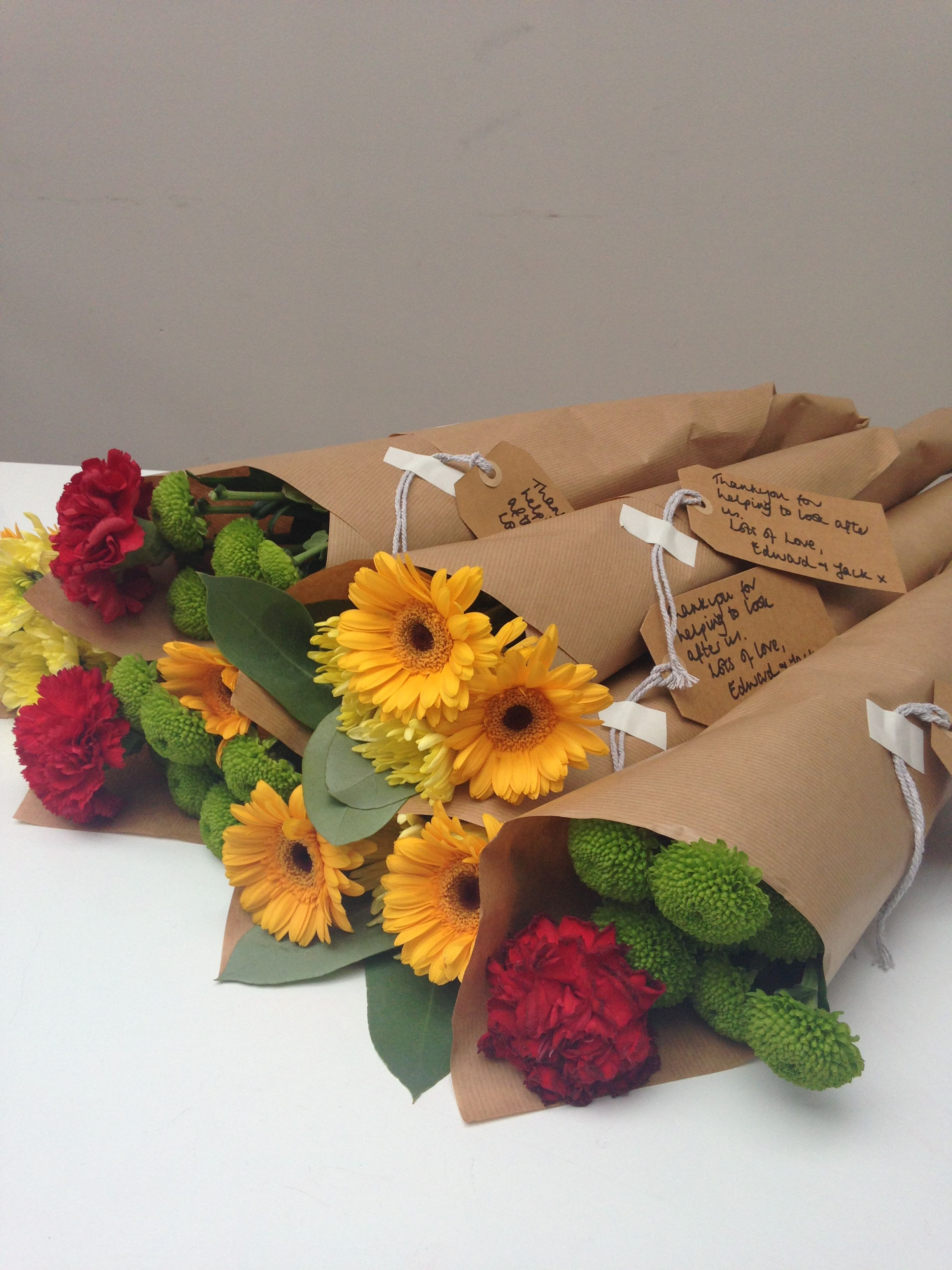 My favourite cheap flower hack buy big bunches of flowers from my favourite cheap flower hack buy big bunches of flowers from supermarket split them here 3 bunches into 6 re wrap in brown paper add a luggage izmirmasajfo