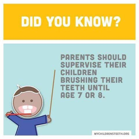 Do you supervise your youngsters while they brush?  It is recommended that you do until they are 7 or 8.  #smilemore  Make an appointment with Lake Orion's award winning Orthodontist today. Contact DeHaan Orthodontics at 248-391-4477 or visit our website at: http://dehaanortho.com/orthodontics-today/.