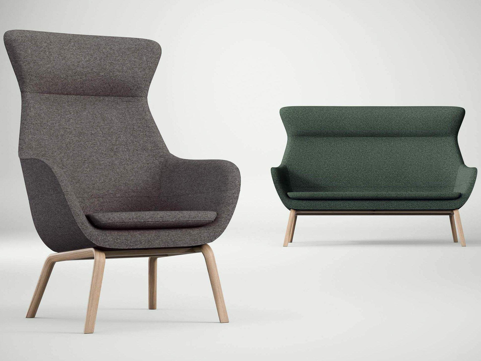 High-back fabric sofa CRONA LOUNGE | Sofa - Brunner | Privacy ...