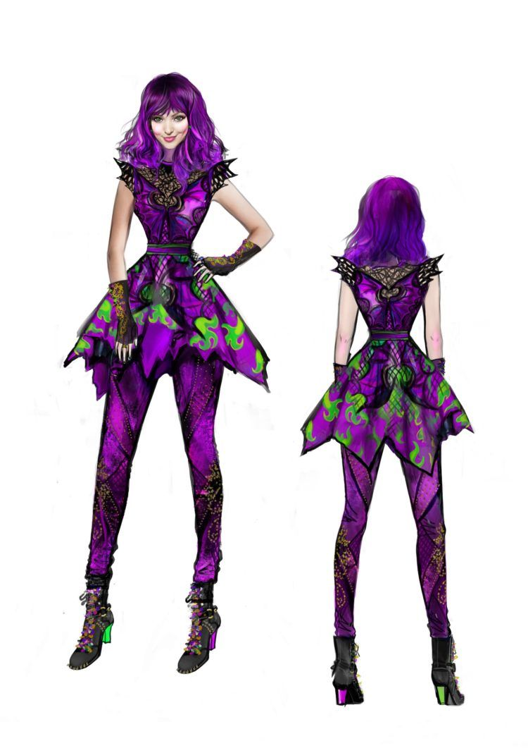 youre going to love these descendants 2 costume sketches