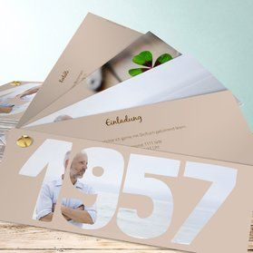 einladungskarten 60. geburtstag - selbst gestalten | basteln, Einladung