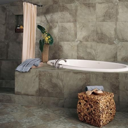 Midnight Blaze earth tone #bathroom #tile. Bathroom ideas ...