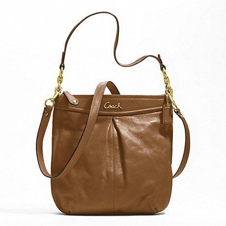 'NEW Auth Coach Ashley Leather Hippie - Camel F20114' is going up for auction at  4pm Sat, Jul 13 with a starting bid of $150.