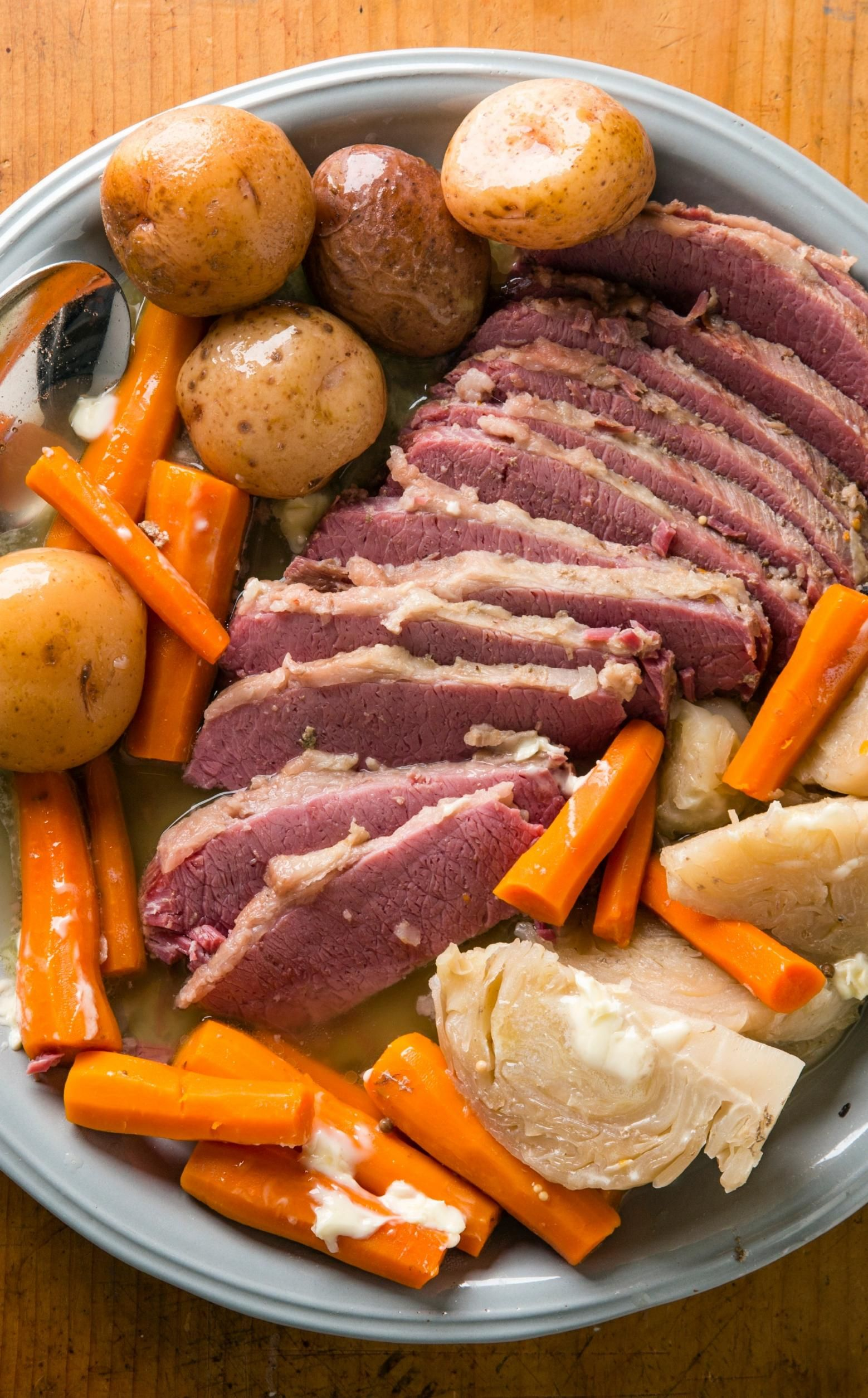 Cooked low and slow all day results in a very tender & juicy. Slow-Cooker Corned Beef and Cabbage   Cook's Country ...