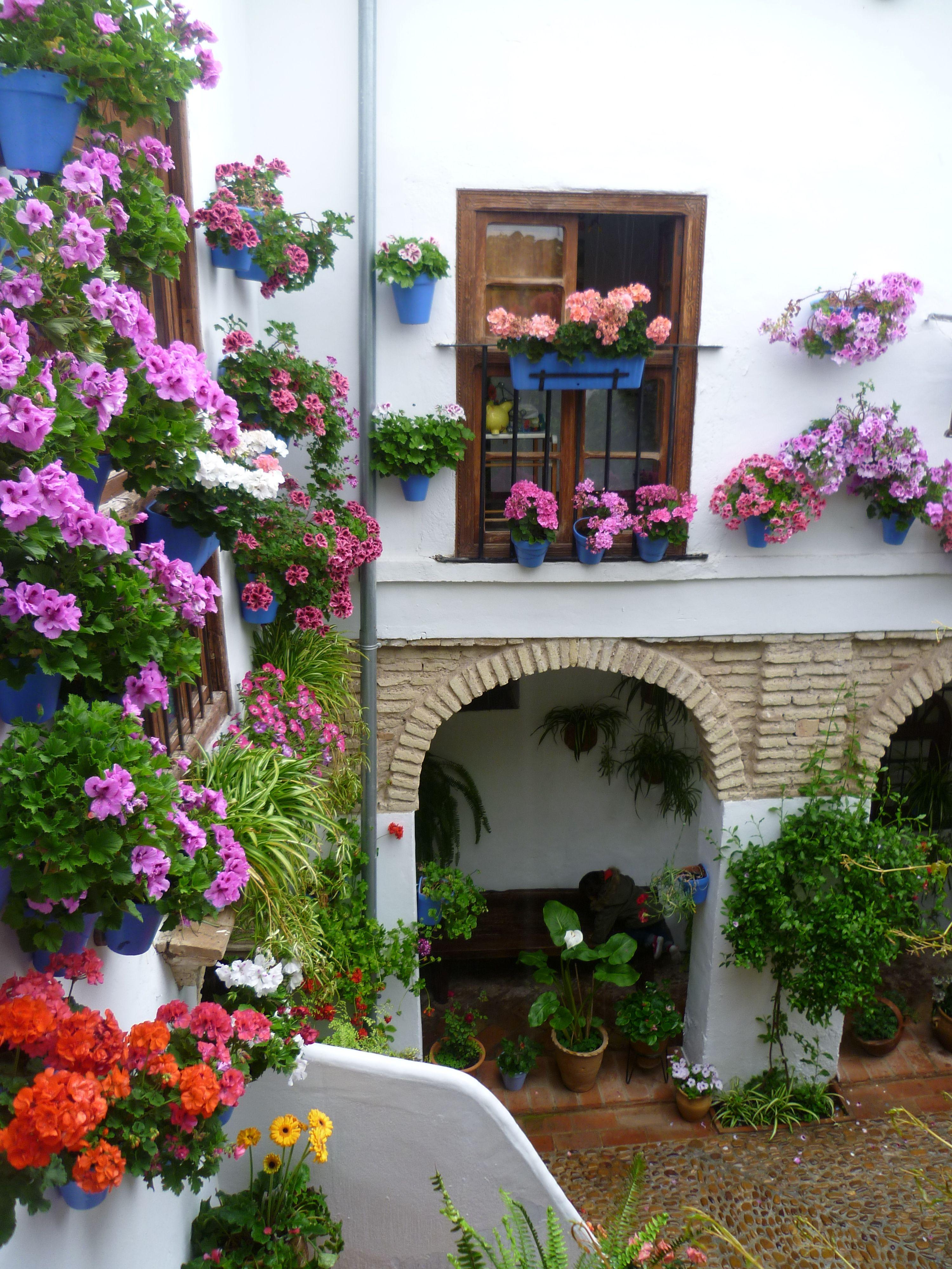 Los Patios Cordobeses Patios Cordobeses Jardin En Balcon Patio Español