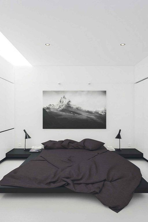 30 Minimalist Modern Black And White Bedroom Interior Designs Stylish Bedroom Design Minimalist Bedroom Design Minimalist Bedroom Decor